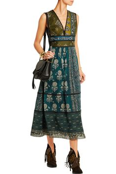 Burberry ProrsumPrinted silk dress