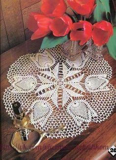 Materiales gráficos Gaby: 4 Mantelitos con moldes tejido a ganchillo