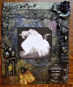 Altered canvas by The Male Crafter