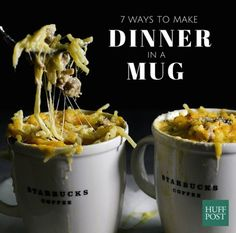7 One Mug Meals That Make Dinner A Cup Of Gooey Goodness