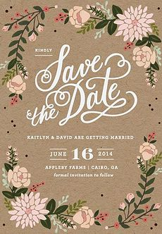Floral Wreath Save the Date http://www.theperfectpaletteshop.com/#!invitations/c1s6y