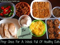 Sunday Food Prep: Get Inspired, Be Prepared, & Prep Once For A Week Full Of Healthy Eats!