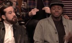 """Kevin laughing at Avi after he sings an extra note by mistake during a live performance of """"Can't Sleep Love"""" #pentatonix"""
