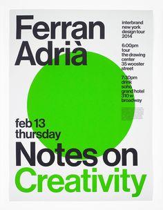 Joseph Han – Ferran Adrià: Notes On Creativity posters