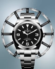 The new Rolex Explorer in 904L steel interpreted by Thomas Hensinger.
