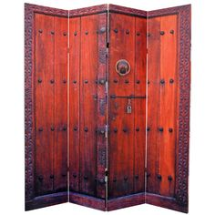 """Found it at Wayfair - 70.87"""" x 63"""" Ledezma Double Sided Doors 4 Panel Room Divider"""