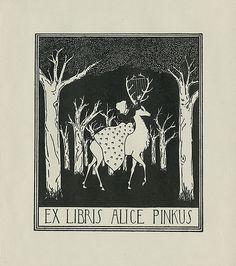 [Bookplate of Alice Pinkus] by Pratt Libraries, via Flickr