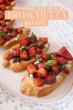 Sin Gluten, Goat Cheese Bruschetta Recipe, Cooked Apples, Homemade Apple Pies, Tacos, Strawberry Recipes, Strawberry Pie, Appetizer Recipes, Party Recipes