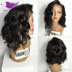 Top Quality Natural Wave Brazilian Hair Lace front Wigs Short Bob Human Hair Full Lace Human Hair Wigs for Black Women Online with $72.37/Piece on Virginhairwigs's Store | DHgate.com