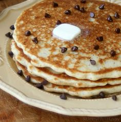 MIH Recipe Blog: Gluten Free Chocolate Chip Pancakes {my fave so far, they're fluffy & delish!} #glutenfree
