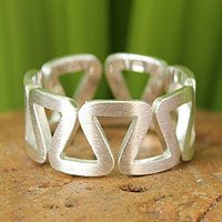 Sterling silver band ring, 'New Energy' from @NOVICA, They help #artisans succeed worldwide.