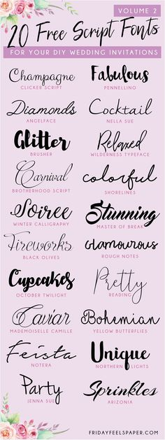 Lettering Fonts Discover Free Script Fonts For Your DIY Wedding Invitations - Fonts Free script fonts including calligraphy brush handwritten feminine fonts for your diy wedding invitations projects crafts handmade stationery & more. Police Script, Wedding Invitation Fonts, Wedding Invitations Diy Handmade, Invitation Design, Handmade Wedding, Wedding Stationery, Invitation Cards, Wedding Favors, Feminine Fonts
