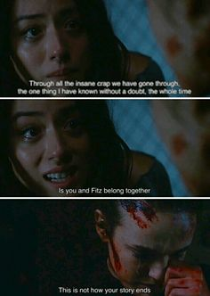 This is not how your story ends. Daisy totally ships FitzSimmons