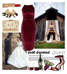 """""""Best dressed guest"""" by chloe-86 ❤ liked on Polyvore featuring Rosantica, Chanel, Topshop, Libbey, Gianvito Rossi, napa, winerywedding, bestdressedguest and vineyardwedding"""