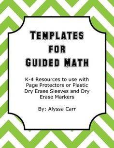 Templates for Guided Math