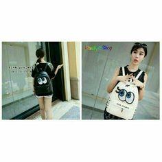 Eyes Backpack Warna,hitam,putih Rp150.000