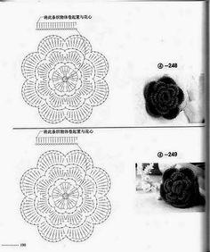 Crochet Flower Tutorial, Crochet Diy, Crochet Cross, Crochet Flower Patterns, Crochet Stitches Patterns, Love Crochet, Irish Crochet, Crochet Designs, Crochet Flowers