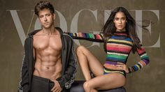 The Internet is going crazy over our Hrithik Roshan and Lisa Haydon cover Bollywood Girls, Bollywood Actress, Fit Actors, Lisa Haydon, Vogue India, Vogue Covers, Hrithik Roshan, Going Crazy, Indian Girls
