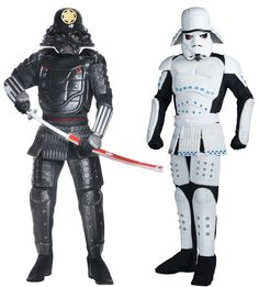 Samurai Darth Vader And Storm Trooper Costumes #StarWars