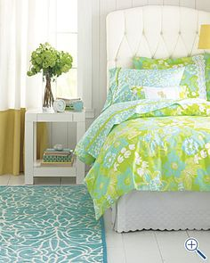 My new bedding...my boyfriend created a monster with this Lilly stuff...
