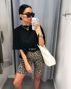 Got carried away because today was not t-shirt weather 🌧 shorts - ad Short Outfits, Summer Outfits, Casual Outfits, Cute Outfits, Look Fashion, Daily Fashion, Fashion Outfits, Womens Fashion, Look Street Style