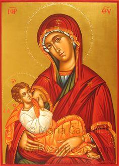 Maria Galie   Icone Cristiane su legno di tiglio con doratura 24 k