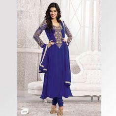 Kriti-Sanon-Designer-Long-Blue-Anarkali-Suit