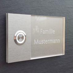 MODERNE-Haustuerklingel-LED-Klingelplatte-Tuerklingel-Klingel-GRAVUR-72-001-F-015