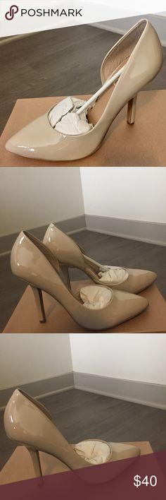 "BCBG Nude Pointed Toe Heels New! Open box! BCBG pointed toe heels. Color: nude. Us Size 10M. Heel height 4.5"" BCBG Shoes Heels"