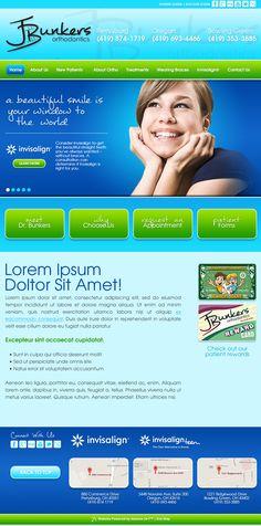 #sesamewebdesign #psds #ortho #responsive #blue #green #pattern #gradient #handwriting #sans #top-nav #full-width