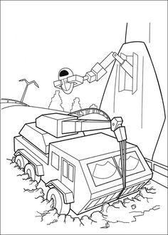 Wall-E Tegninger til Farvelægning. Printbare Farvelægning for børn. Tegninger til udskriv og farve nº 36