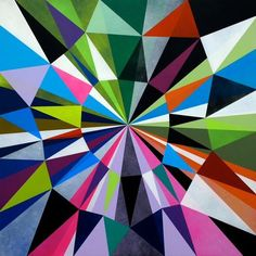 colorful, geometric illustration. Makes me want a quilt just like it.