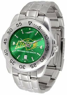 North Dakota State University Bison Sport Steel Band Ano-chrome - Men's - Men's College Watches by Sports Memorabilia. $59.95. Makes a Great Gift!. North Dakota State University Bison Sport Steel Band Ano-chrome - Men's
