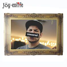 JOY-ENLIFE New Bronze Paper Photo Frames For Pictures Vintage Frame Photo DIY Baby Photo Frame Party Photo Frame Home Decorative