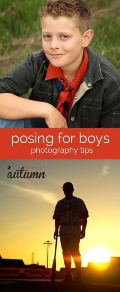great #photography post with tons of tips and example photos for posing #boys. link to how to pose girls post as well. #pose