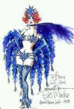 "Bob Mackie sketch for ""Miss Electra"" in Gypsy"