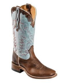 Boulet Damiana Cowgirl Boots - Square Toe - Sheplers from Sheplers. Saved to Shoes👡. Mode Country, Country Boots, Cowboy Boots Women, Western Boots, Blue Cowgirl Boots, Western Wear, Over Boots, Square Toe Boots, Cute Boots