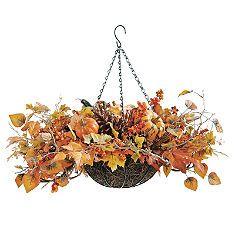 Harvest Leaves Hanging Basket - Grandin Road