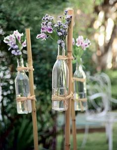 87 Brilliant Garden Wedding Decor Ideas I've got a bunch of bamboo stakes. - 87 Brilliant Garden Wedding Decor Ideas I've got a bunch of bamboo stakes I picked up at a - Free Wedding, Diy Wedding, Rustic Wedding, Wedding Ceremony, Wedding Flowers, Wedding Ideas, Small Garden Wedding, Vintage Outdoor Weddings, Wedding Happy