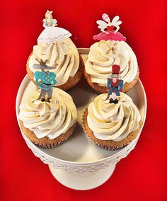 It's less than a week till Christmas, but it still feels forever away; Nutcracker Christmas, Christmas Treats, Cupcake Toppers, Cupcake Cakes, Healthy Cupcakes, Honey And Cinnamon, Chai, Sweets, Wishful Thinking