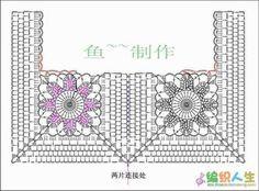 crochelinhasagulhas: white tunic with crochet fabric