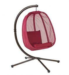 Hanging Egg Chair with Stand: FlowerHouse Hanging Furniture Hanging Chair With Stand, Hanging Egg Chair, Hanging Furniture, Swinging Chair, Outdoor Plastic Chairs, Outdoor Chairs, Dining Chairs, Outdoor Dining, Adirondack Chairs