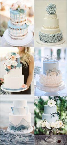 24 Brilliant Dusty Blue Wedding Color Ideas Oh Best Day Ever wedding Cakes blue Blue Wedding Decorations, Wedding Cakes With Flowers, Wedding Colors, Wedding Blue, Flower Cakes, Elegant Wedding, Wedding Shoes, Perfect Wedding, Wedding Ideas