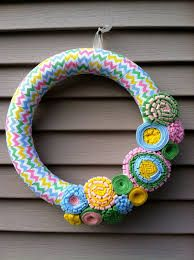 fabric wrapped wreath - Google Search
