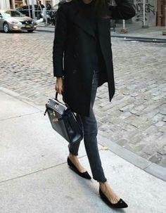 All black fall street style inspo