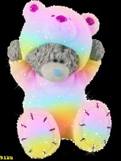 love you cute gif Tatty Teddy, Bear Gif, Bear Images, Glitter Gif, Blue Nose Friends, Love Bear, Cute Teddy Bears, Birthday Pictures, Cool Pets