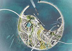Diller Scofidio + Renfro ganan concurso para una Eco-Isla en China,Mención honrosa: UNStudio. Imagen cortesía de Guallart Architects