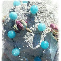 Bracciale con perle di angelite