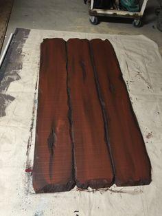 Transforming styrofoam to wood!   Mirrored Creations