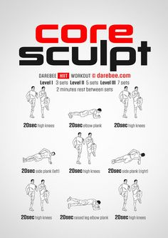 Core Sculpt workout.